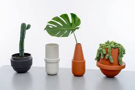 Pier One Planters by Montreal Duo Mpgmb Combine Round Shapes And Ribbed Edges For A