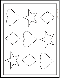 shape coloring pages customize print