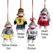 sock monkey company mini sock monkeys sock monkey ornaments