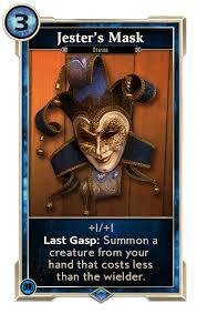 jesters mask custom card jester s mask it was me barry elderscrollslegends