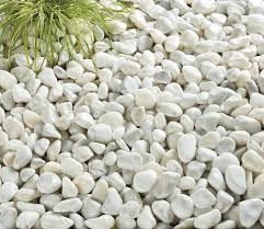 decorative pebbles and cobbles pearl white cobbles bulk bag