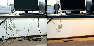 under table cable tray desk cable management ideas under desk cable tray before and after