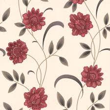 graham u0026 brown sadie cream u0026 red floral wallpaper departments