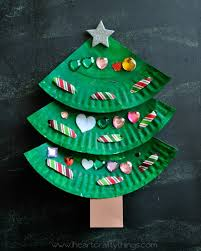 Art And Craft Designs And Ideas Paper Plate Laced Christmas Tree Craft I Heart Crafty Things