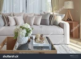 Livingroom Sofa Modern Living Room Design Sofa Wooden Stock Photo 472125673