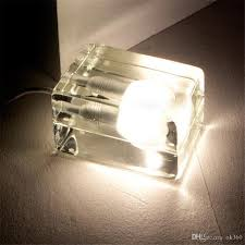 online cheap creative modern glass crystal desk lamp ice block led