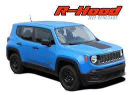 jeep renegade dark blue renegade hood 2014 2018 jeep renegade center hood blackout