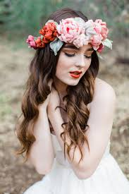 flower crowns beautiful boho bridal flower crowns chic vintage brides