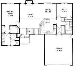 ranch style house plan 2 beds 2 baths 1218 sq ft plan 58 161