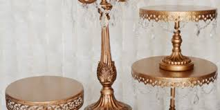 gold cake stands josie events