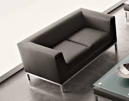 petit canape 2 places cube petit canapé 2 places cuir ou tissu luxy pour accueil