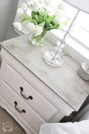 best night stand redo ideas pinterest nightstand nightstand chalk paint tutorial white distressed furniturewhite painted