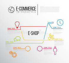 shop report template vector e commerce infographic report template stock vector image