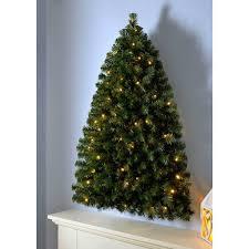 Alameda Christmas Tree Lane 2015 by Werchristmas Pre Lit Green Wall Mounted Christmas Tree With 50