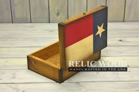 Texas State Flag Texas State Flag Gifts Wooden Memory Box