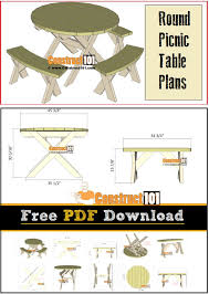 Folding Picnic Table Bench Plans Free by Best 25 Round Picnic Table Ideas On Pinterest Picnic Tables