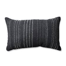 pillow perfect tribal stitches 100 cotton lumbar pillow u0026 reviews