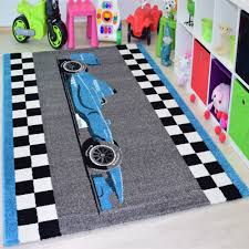jugendzimmer teppich kinder teppich formula racer öko tex jugendzimmer carpet 1805 blau