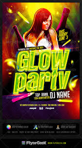 glow party flyer template psd by flyergeek graphicriver