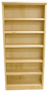 6 Bookcase 6 Shelf Urban Maple Bookcase Natural Finish 72
