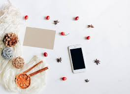 creative flat lay with autumn ornaments stock photo nuchylee