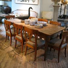 19th cent french country dining table in pine and oak furniture