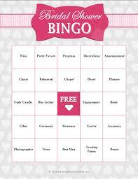 wedding words for bingo free bridal shower printable wedding shower cards
