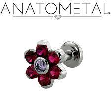 flat back earrings flat back labrets anatometal professional grade piercing