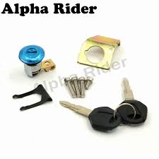 motorcycle ignition switch lock fuel cap tank cover seat locks key