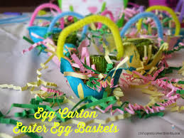 easy easter craft for kids egg carton easter egg baskets easter