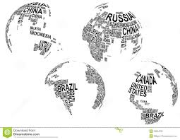 Cuba On A World Map by World Map With Country Name Stock Photo Image 29604180
