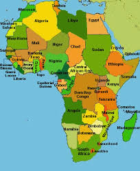 africa map labeled countries africa map part 2