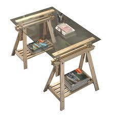 bureau traiteau bureau treteau verre table bureau treteaux plateau verre ikea
