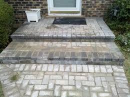 brick paver step repair failing front porch steps il stone