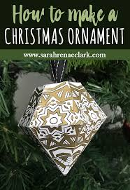 how to make a christmas ornament free printable template diy