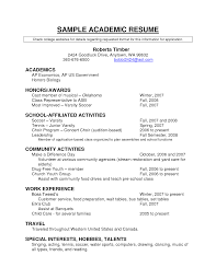 The Best Resume Builder by Academic Resume Template Berathen Com