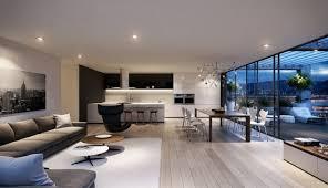 salon salle a manger cuisine design d intérieur salon salle manger cuisine terrasse loft moderne