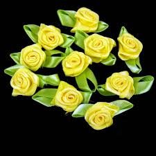 satin ribbon flowers 50 big buds satin ribbon flowers rosebuds wedding card