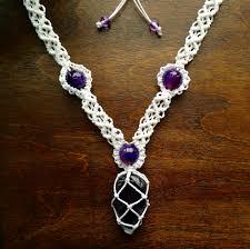macrame necklace tutorial macrame and hemp jewelry pinterest