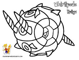 whirlipede pokemon coloring pages book for boys bebo pandco