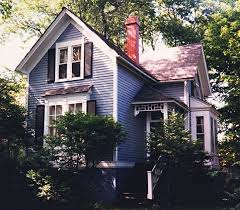 image result for folk victorian with cantilevered gable over box