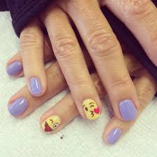 emoji nails my nail art pinterest emoji nails yellow nails
