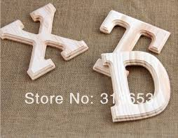 diy handmade classic modern wooden letters decoration for home