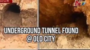 underground tunnel found near charminar in hyderabad old city