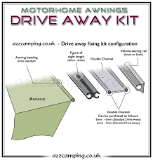 Motorhome Drive Away Awning Review 3 Metre 6mm 6mm Drive Away Awning Fixing Kit Standard