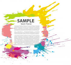 colorful paint splash vector frame background welovesolo