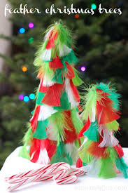 Home Made Christmas Decor Homemade Christmas Decorations Feather Christmas Trees Wine U0026 Glue
