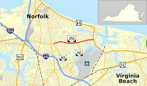 Map Of Norfolk Virginia by Virginia State Route 170 Wikipedia