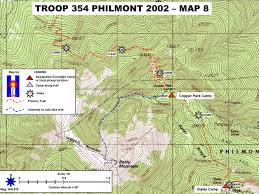 philmont scout ranch map philmont 2002 trek route 20 maps