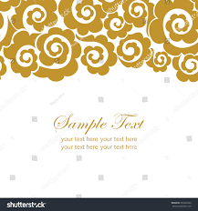 Gold Invitation Card Invitation Card Lace Ornamentgold Doodles Elements Stock Vector